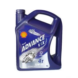 Olio Shell Advance VSX 4T 15W-50 4Litri